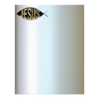 Jesus within a Fish Symbol Letterhead