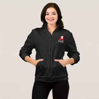 Jesus Women's Dark Fleece Zip Jog Jacket