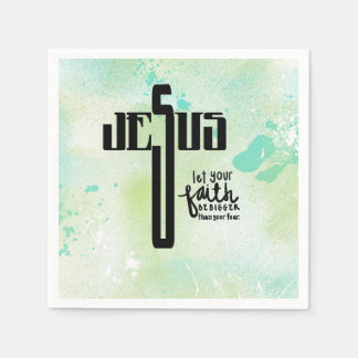 Jesus Word Art Napkin