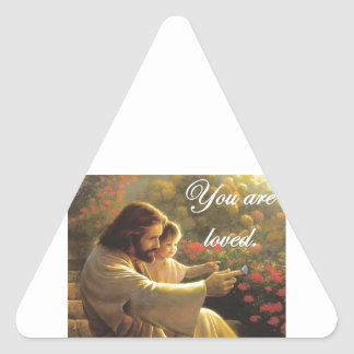 Jesus- You Are Loved Triangle Sticker