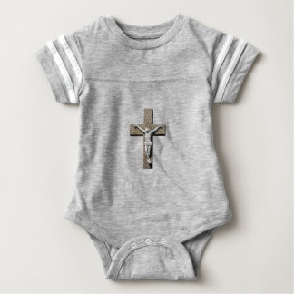 Jesuschrist on a Cross Sculpture Baby Bodysuit