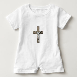 Jesuschrist on a Cross Sculpture Baby Romper