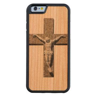Jesuschrist on a Cross Sculpture Carved Cherry iPhone 6 Bumper Case