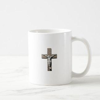 Jesuschrist on a Cross Sculpture Coffee Mug