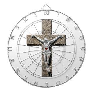 Jesuschrist on a Cross Sculpture Dartboard