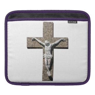 Jesuschrist on a Cross Sculpture iPad Sleeve