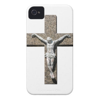 Jesuschrist on a Cross Sculpture iPhone 4 Case-Mate Case