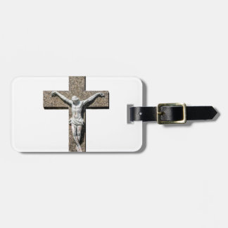 Jesuschrist on a Cross Sculpture Luggage Tag