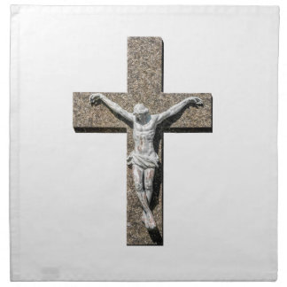 Jesuschrist on a Cross Sculpture Napkin