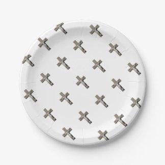 Jesuschrist on a Cross Sculpture Paper Plate