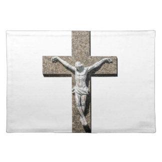 Jesuschrist on a Cross Sculpture Placemat