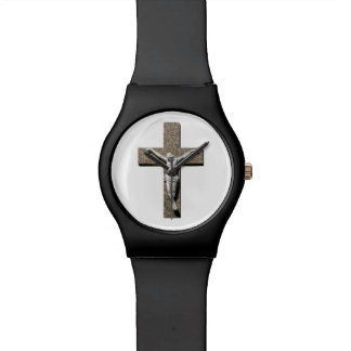 Jesuschrist on a Cross Sculpture Watch