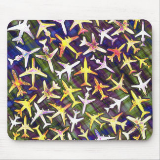 Jet Aircraft Collage Mouse Pad