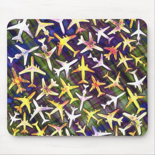 Jet Aircraft Collage Mousepads