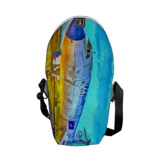 Jet Aircraft Pop art Messenger Bag