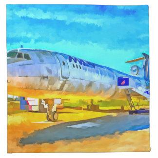 Jet Aircraft Pop art Napkin
