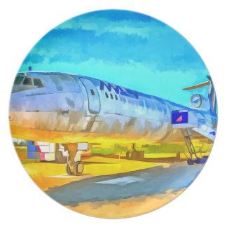 Jet Aircraft Pop art Plate