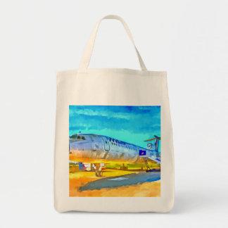 Jet Aircraft Pop art Tote Bag