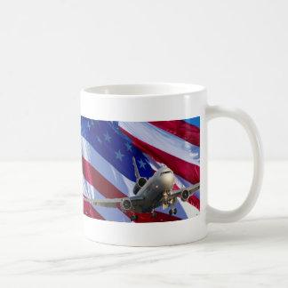 jet airliner coffee mug