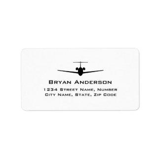 Jet Airplane Address Label