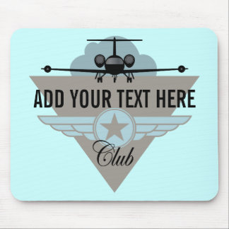 Jet Airplane Wing Club Mouse Pad
