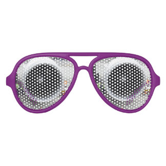 Jet Engine Aviator Party Shades, PurpleSunglass Party Shades