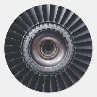 Jet Engine Classic Round Sticker