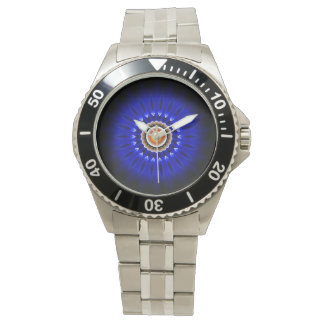 Jet Engine Classic Stainless Steel Wrist Watch