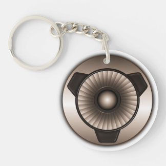Jet Engine Custom Round One Sided Acrylic Keychain