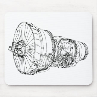 Jet engine mouse pad