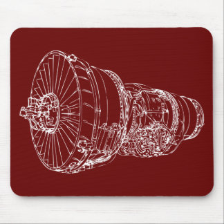 Jet engine mouse pad