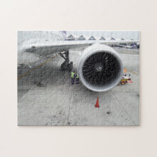Jet Engine Photo Puzzle with Gift Box