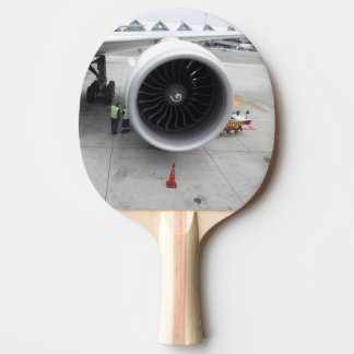 Jet Engine Ping Pong Paddle, Red Rubber Back Ping Pong Paddle