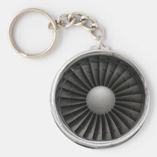 Jet Engine Turbine Fan Keychain