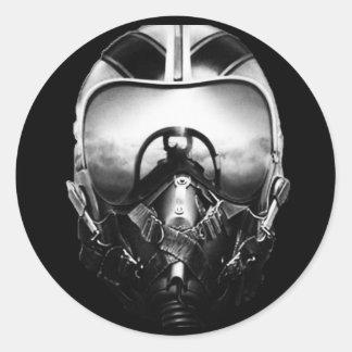 Jet Fighter Aviator Classic Round Sticker
