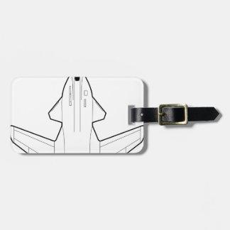 Jet fighter bag tag