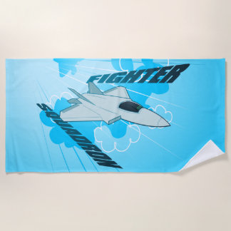 Jet fighter beach towel