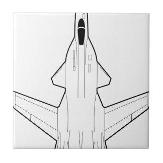 Jet fighter ceramic tile