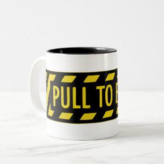 Jet Fighter Cockpit sticker Two-Tone Coffee Mug