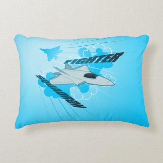 Jet fighter decorative pillow