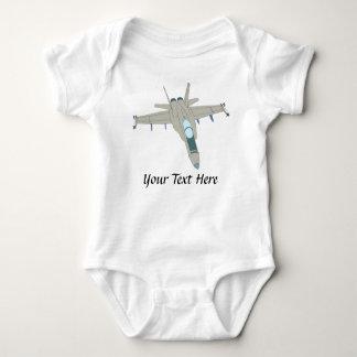 Jet Fighter F18 Hornet Design Baby Bodysuit
