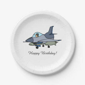Jet Fighter Military Party Paper Plates