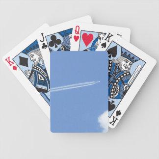 Jet flying in the Blue sky Poker Deck