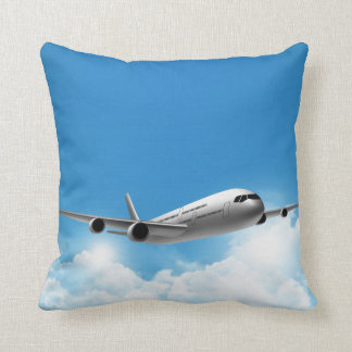 Jet Flying On The Sky Throw Pillow