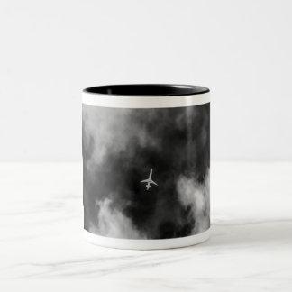 Jet High In The Sky Two-Tone Coffee Mug