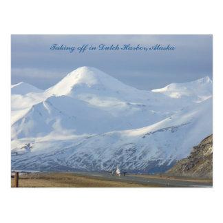 Jet on the Runway in Dutch Harbor, Alaska Postcard