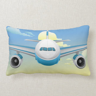 Jet  On The Sky Pillow