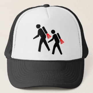 Jet Pack Hikers of the Future Trucker Hat