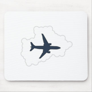 Jet Plane In a Cloud Mouse Pad