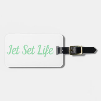 Jet Set Life Luggage Tag